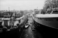 boats (generalzorn) Tags: pentaxk1000 vivitar19mm ilforddelta100 film