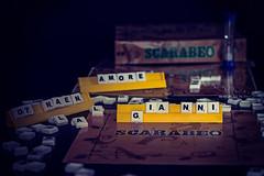 My Name is (Pepenera) Tags: mynameis smileonsaturday stilllife blackbackground scarabeo giochi