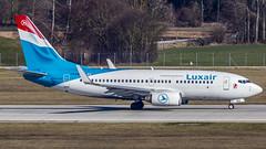 Luxair Boeing B737-700 LX-LGQ Munich (MUC/EDDM) (Aiel) Tags: luxair luxembourgairlines boeing b737 b737700 lxlgq munich canon60d sigma60600