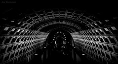 Entering the Transporter (JDS Fine Art Photography) Tags: fantasy surreal bw monochrome architecture travel abstract scifi sciencefiction transport portal subway washingtondc