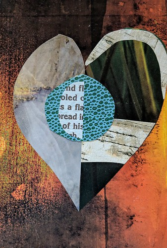 Heart collage for Jane Davies monthly challenge