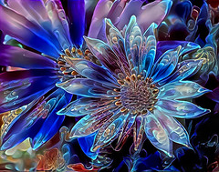 I dream in deep colors (LotusMoon Photography) Tags: flowers photomanipulation digital digitalart vibrant vividcolor deepdreamgenerator annasheradon lotusmoonphotography deepstyle patterns