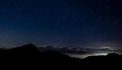 Stars (EF | foto) Tags: stars stelle landscapes night atmosphere sky blue grandangolo mountain montagna light luci notte cloud rifugio