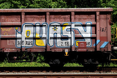 graffiti on freights (wojofoto) Tags: amsterdam nederland netherland holland graffiti streetart cargotrain freighttraingraffiti freighttrain freights fr8 vrachttrein wojofoto wolfgangjosten trein train