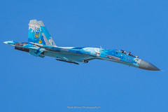 Ukrainian Su-27 Flanker (Mark_Aviation) Tags: ukrainian su27 flanker ukraine air force su27p1 su27p1m blue 58 riat royal international tattoo 2018 riat18 display sunday departures monday airshow military jet aircraft airplane loud fast afterburner