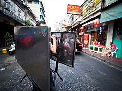 Bangkok Yaowarat Chinatown-3270259 (Neil.Simmons) Tags: bangkok thailand yaowarat candid streetphotography table reflection laowa 75mm f2 uwa ultra wide angle asia seasia southeastasia street market