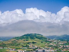 Cumulus clouds over the volcano (RIch-ART In PIXELS) Tags: azores portugal faial sky cloud hill landscape dlux6 leica leicadlux6 horta