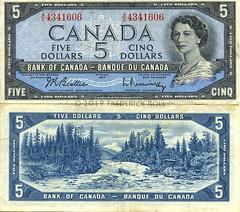 Bank of Canada - $5 Banknote (© Freddie) Tags: 5 fivedollars banknote elizabethii otterfalls devilshead queenelizabethii bankofcanada banqueducanada