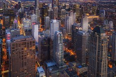 Chicago (karinavera) Tags: city longexposure night photography cityscape urban ilcea7m2 sunset architecture chicago eeuu usa hancock
