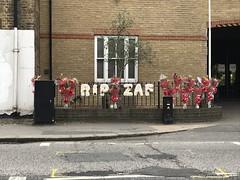 RIP ZAF (Nina Childish) Tags: london n14 southgate northlondon londonboroughofenfield memorial tributes flowers death crime guncrime gangs gangwarfare turkish murder
