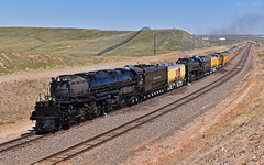 "Westbound Passenger Special - ""The Great Race To Ogden"" - Speer, WY (Grant Goertzen) Tags: up union pacific railroad railway locomotive train trains 4014 big boy wasatch passenger special 844 living legend steam engine wyoming cheyenne 150 golden spike ogden race ceremony"