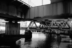 N0392019 (toshyie) Tags: bigness structure fujiacros leicam6 summaronm35mmf28 industrial monochrome steel bridge film filmphotography モノクローム 東京 橋 水 river water