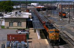 New Service To/From the UP (Jeff Carlson_82) Tags: bnsf 9999 emd sd70mac grain yard depot station topekasub topeka ks kansas burlingtonnorthernsantafe unittrain
