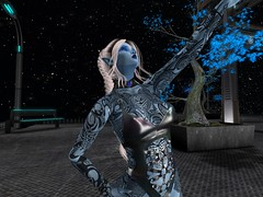Typhoon Blue Skin 5-4-19_017 (Justine Flirty) Tags: fantasy tattoo scify blue unisex artisanna