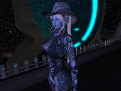 Typhoon Blue Skin 5-4-19_002 (Justine Flirty) Tags: fantasy tattoo scify blue unisex artisanna