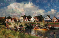 Greetsiel (HWHawerkamp) Tags: germany greetsiel harbour landscape city viollage painting creativ effect graphics abstract colours travel
