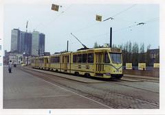 Brussel toen (2) (Maurits van den Toorn) Tags: tram tramway strassenbahn tranvia eléctrico sporvogne mivb stib brussel bruxelles noordstation garedunord