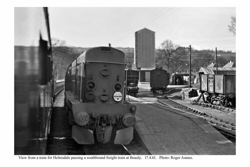 Beauly. Southbound freight train. 17.4.61