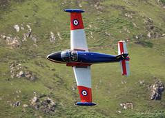 BAC Jet Provost (Steve Moore-Vale) Tags: bac corriscorner jetprovost machloop xw325 lowflying plane aviation airplane aeroplane machynlleth topside landlocked