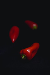 Red peppers (Arnø N°XX) Tags: dark low key légumes vegetables red rouge still life object nature morte