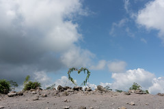 Love atop the lava fields (cpw123) Tags: indonesia yogyakarta java merapi volcano jeep off road wyllis honda lava sony a7r2 28mm f20 prime travel asia bunker love