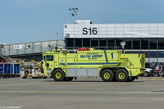 Alaska Airlines Aviation Day (wacamerabuff) Tags: alaskaavationday airport firetruck seatac washington