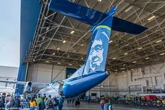 Alaska Airlines Aviation Day (wacamerabuff) Tags: alaskaavationday airport seatac dash 8 washington avation ksea bombardier q400 airplane aircraft propellor aviation horizonairlines qxe alaskaairlines asa