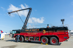 Alaska Airlines Aviation Day (wacamerabuff) Tags: alaskaavationday airport seatac firetruck washington