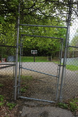 playground (Paul Comstock) Tags: 4may2019 may 2019 spring kingston newyork rondout therondout saturday playground basketballhoop chainlinkfence chainlink fence