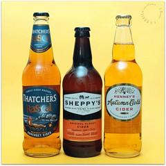 Cider-for-Sunday (zweiblumen) Tags: cider thatchers sheppys henneys bottles canoneos50d canonspeedlite430exii canonef35mmf2 yongnuorf603cii polariser zweiblumen