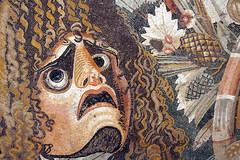 Fruit and masks (kate223332) Tags: pompeii mosaic museum archeology napoli italy casadelfauno houseofthefaun romanmosaic