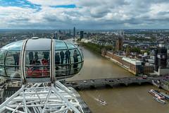 London Eye (mlk.dahoui) Tags: thames london nikon londoneye cabin people city westminster bigben wheel sky clouds nikonflickraward d750 bridge cars horizon water boats travel england