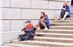 Once, Twice, Three Times A Lady (jaykay72.) Tags: london uk street candid streetphotography trafalgarsquare stphotographia