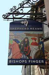 English Pub Sign - Bishops Finger, Canterbury (big_jeff_leo) Tags: sign pub publichouse pubsign painted street england