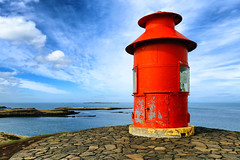 Sugandisey Island Lighthouse (erichudson78) Tags: island islande iceland lighthouse phare mer sea seaside seascape borddemer canoneos6d horizon red rouge