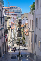 Alleys, Lanes and Stairs 6 (Tobi Lehmann) Tags: alleys lanes stairs walls streets lisbon city
