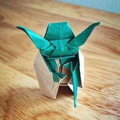 Origami Master Yoda (katypillar22) Tags: origami yoda masteryoda paper paperart starwars