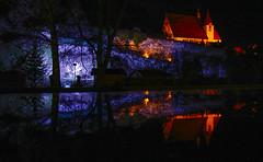 Night Castle (CoolMcFlash) Tags: castle reflection water puddle architecture night building eggenburg austria loweraustria old burg spiegelung wasser pfütze architektur nacht gebäude österreich niederösterreich alt fotografie photography sigma 1020mm 35