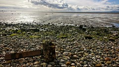 Morecambe Bay looking glorious at low tide. (peterileypics) Tags: morecambe sea rock pebble beach sand reflection lancashire lightroom light