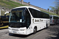 PO62XZL  Angel Tours, Wembley (highlandreiver) Tags: po62xzl po62 xzl angel tours wembley middlesex london neoplan tourliner bus coach coaches edinburgh