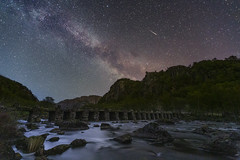 """Milky way and a meteor"" (kenthelleland) Tags: milky way milkyway galaxy norge norway stars nightsky starrynightsky universe astrophotography astrofoto nightimage nightshot meteorshot meteor fireball meteorshower landscape nature mountains river terlan terland klopp helleland rogaland canon6d canon breakthrough sky stones rocks astroscape egersund night darkness star bridge trees"