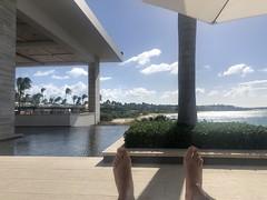 Sunbathing at the Four Seasons Resort, Anguilla