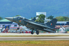 India Air Fore HAL Tejas fighter jet (phuong.sg@gmail.com) Tags: aeronautics combat defence force hindustan war warfare warplane aeroplane aerospace afterburner air airshow aircraft airforce airplane armed attack aviation blue bomb bomber defense fighter flight fly flying hal india indian interceptor jet langkawi lima malaysia military plane sky takeoff tejas weapon