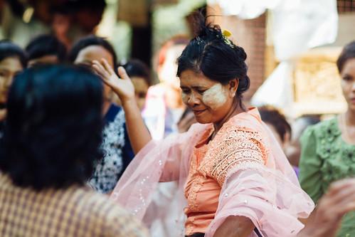 Woman Dancing at Nat Pwe, Mandalay Myanmar