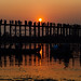 Sunset Over U Bein Bridge, Mandalay Myanmar