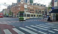 IJskoud omgeleid. (Peter ( phonepics only) Eijkman) Tags: amsterdam city combino gvb detour omleiding wegwerkzaamheden roadworks tram transport trams tramtracks trolley rail rails strassenbahn streetcars nederland netherlands nederlandse noordholland holland