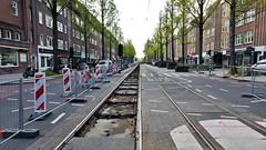 Open, maar dicht... (Peter ( phonepics only) Eijkman) Tags: amsterdam city gvb roadworks wegwerkzaamheden detour omleiding tram trams transport tramtracks trolley rail rails strassenbahn streetcars nederland netherlands nederlandse noordholland holland