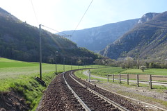Train tracks @ Hike to Le Vuache (*_*) Tags: randonnee nature montagne mountain hiking walk marche 2019 printemps spring april jura vuache savoie europe france hautesavoie 74 chevrier afternoon