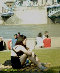 Tower Bridge, London (Johns Journeys) Tags: sunshine fun girl towerbridge london easter colours outside grass mobiles