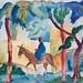Homme sur un âne d'August Macke (Musée de l'Orangerie, Paris)
